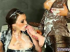 Strapon wam fetish lesbos wet and messy