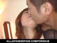 Miki Yamashiro i strumpor få sperma i munnen när stor jävla