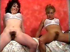 Retro волосатый киска женщин игрушки секса