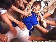 Asuka Ohzora Cosplay chick i bukkake