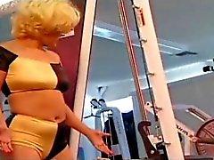 Lesbians Orgie in Gym
