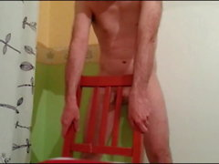 Chair humping and cumming Compilation 13 orgasms