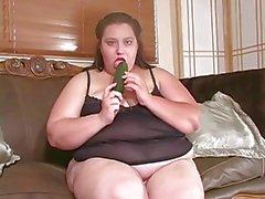 bbw ensam wiht hennes stora grönsak