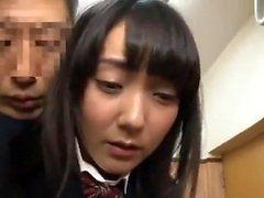 Japanese threeway with blowjob and fuck