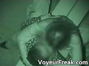 Horny brunette babe is caught fucking part1