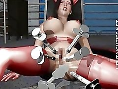 Slutty 3D hentai whore gets fucked