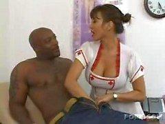 enfermero córneo disfruta de de carne negro !!!!