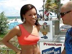 Slim latina Lyna picked up and fucking
