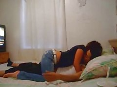 Leuke Amateur Paar dat Pret op Bed