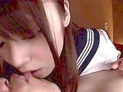 Lindo del mamadas colegiala de asiática facialized