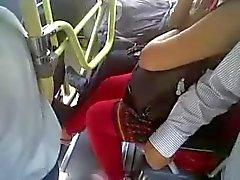 Desi buss klanta beröring voyeur
