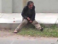 Str8 Spion fing einen obdachlos Wichsen