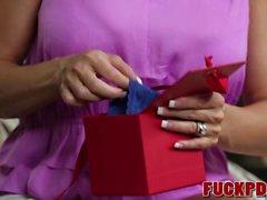Brandi Love In Thong Stuffing