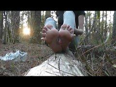 cumshot sulor i skogen