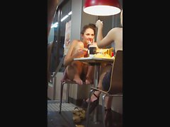 Hidden Upskirt Camera Catches Panties Up A Flowered Skirt