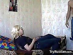 Lovers russa che hanno sesso At Home