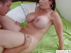 Mature MILF Sara Jay Pretty Step Mom loves Sons Hard Cock