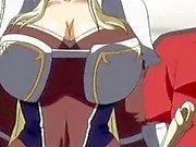Cute 3d anime prinsessan får hennes stora klantskallar retad
