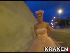 Krakenhot - Crazy bride, submissive in the street!!!