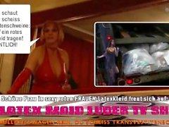 Sıcak Latexkleid Bayan Scheiss Transvestitenschweine totpressen ve verbrennen