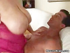 Samantha 38G BBW's blowjob titkuck and lained