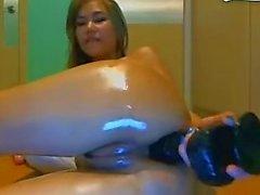 adolescente anal preto grande dildo