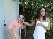 Rachel Starr and Dillion Carter hot orgy in the bedroom
