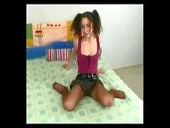Masturbating To Orgasm In her Pantyhose