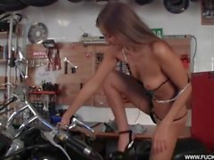 Stunner Horny On A Bike Hot
