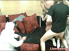 Naughty schoolgirl gets it hard from behind