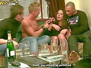 Three drunk boys fuck sexy chick Natalie