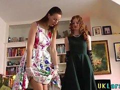 British slut eats pussy
