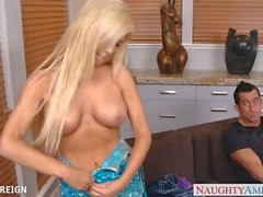 GOrgeous Tasha Reign gives oral sex