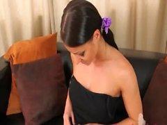 Фиолетовый нейлоновые колготок по очаровательной пупсикки