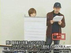 Quiz show subtítulo japonês com nudista estudante Japão