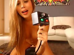 Sexy Blond de Sybian do orgasmo