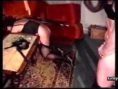 Franska BDSM par tåg knubbig slav