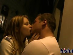 Naughty young couple enjoys some bedroom fun