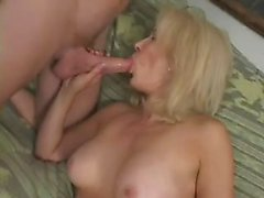 Aged lady's 1st porn with anal and facial