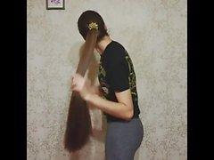Super pitkäkarvainen brunette, pitkät hiukset, hiukset