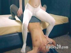 Amazing hot lezzs in pantyhose
