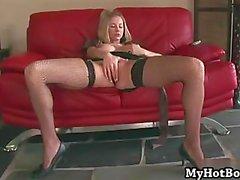 Mackenzie Star always wears her fishnet stockings