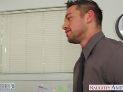 Tempting office babe Audrey Bitoni gets nailed