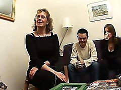 Maduras francés Françoise jodido en trío