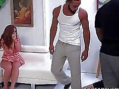 Maddy OReilly ottiene doppia Dicked Per Black da Uomo