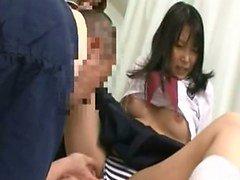 Alt yazı Japon kız öğrenci gereksiz hastanede bir ön sevişme