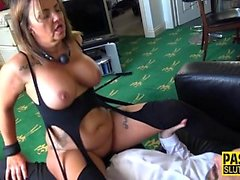 Real busty sub milf rides