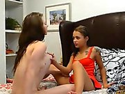 Anya Olsen and Holly Hendrix lesbians lusting out on the bed