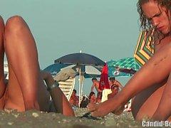 Nudista Lésbica Casal Praia Voyeur Spy Cam HD Video