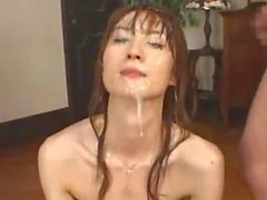 Vända mot med sperma Sayuki